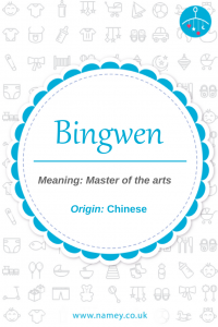 Chinese baby boy names Bingwen